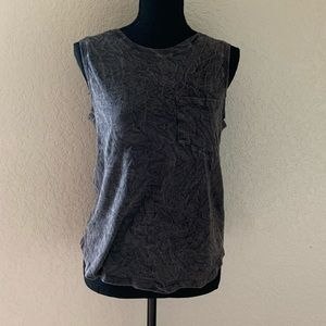 Mossimo Black AcidWash Wrinkled Looking Muscle Tee